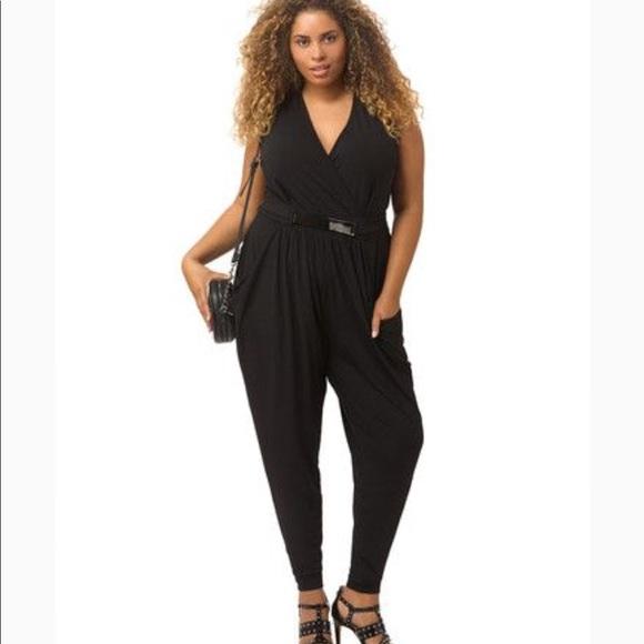 4cd8b6a4bb2 City Chic Black Deep V Jumpsuit